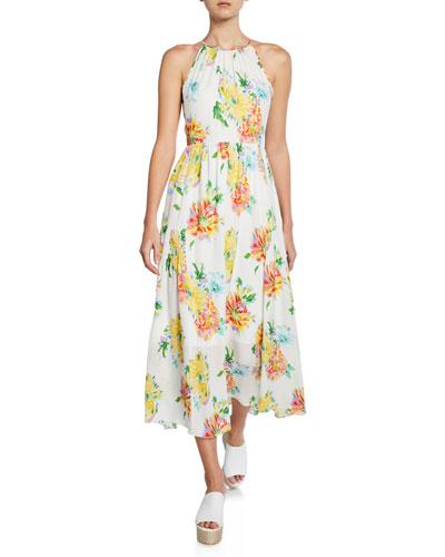 Lana Floral-Print Halter Dress