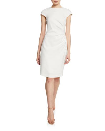 838b29604c Natalia Cap-Sleeve Ruched Sheath Dress