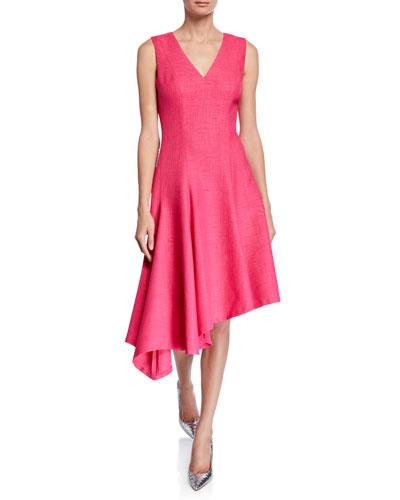 Shania V-Neck Sleeveless Asymmetric Dress