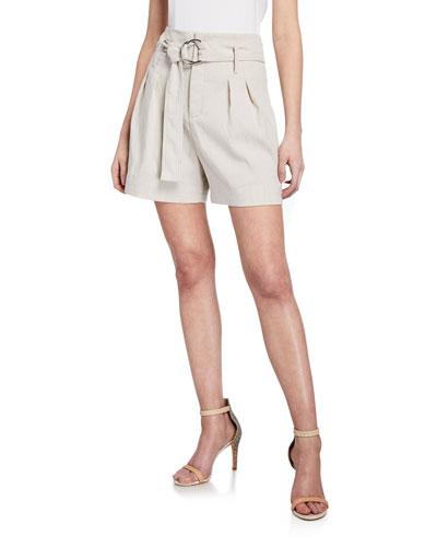 Genna High-Waist Belted Shorts