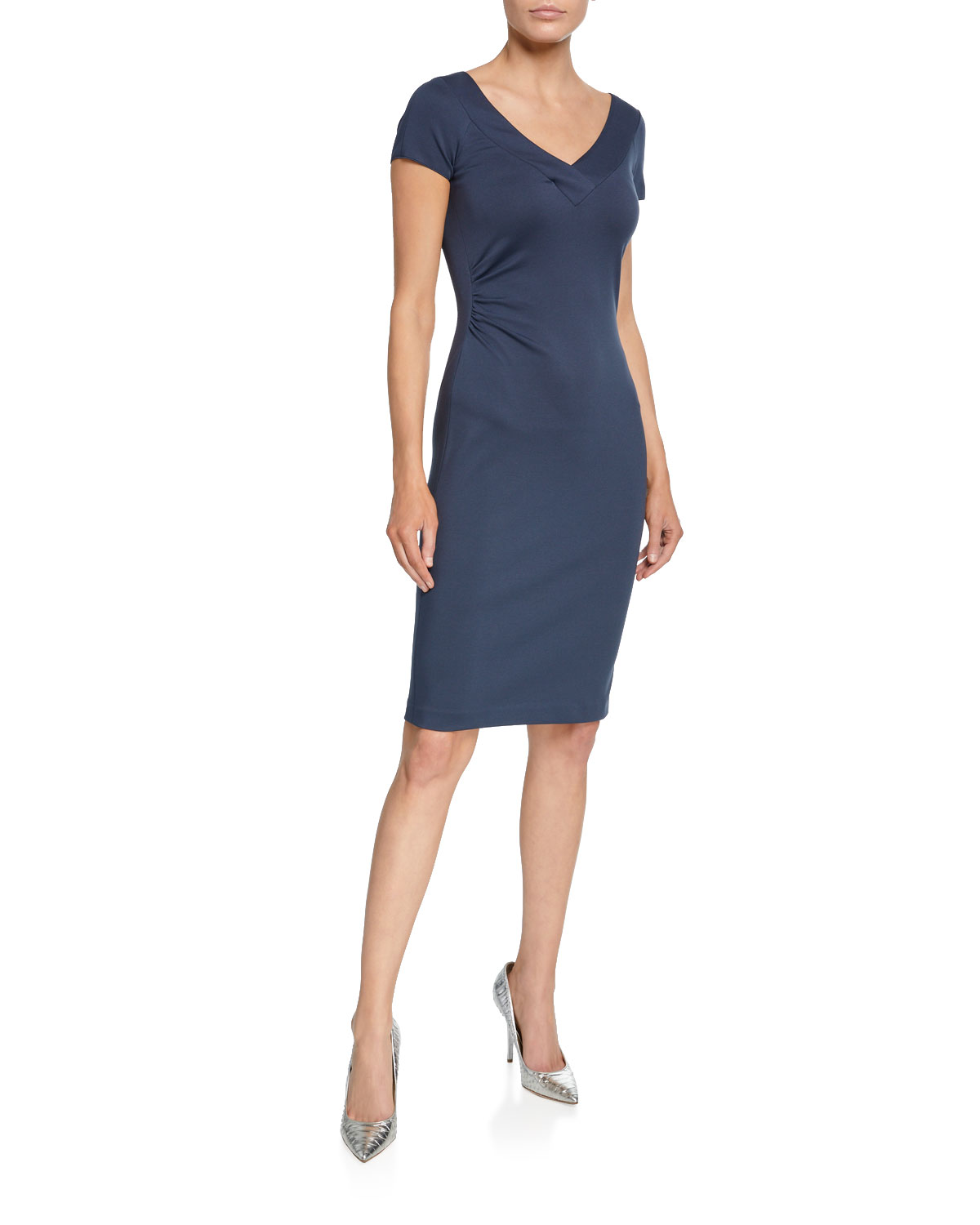 Giorgio Armani Dresses V-NECK MILANO JERSEY CAP-SLEEVE DRESS