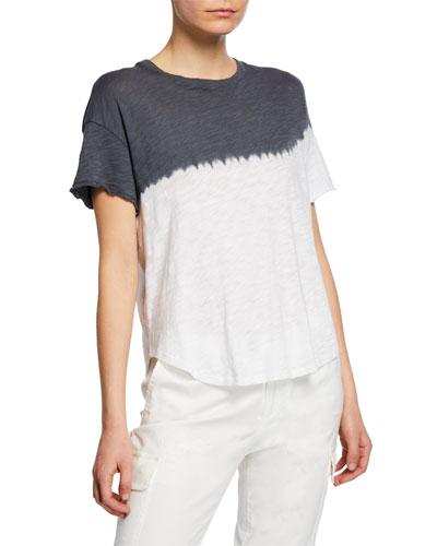 Dip Dye Short-Sleeve Slub Jersey T-Shirt