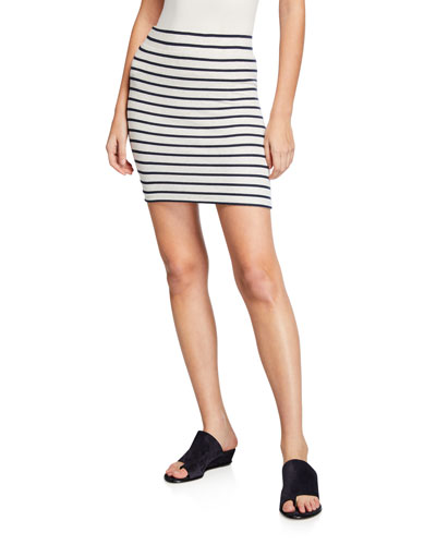 Striped Micro Modal Mini Skirt