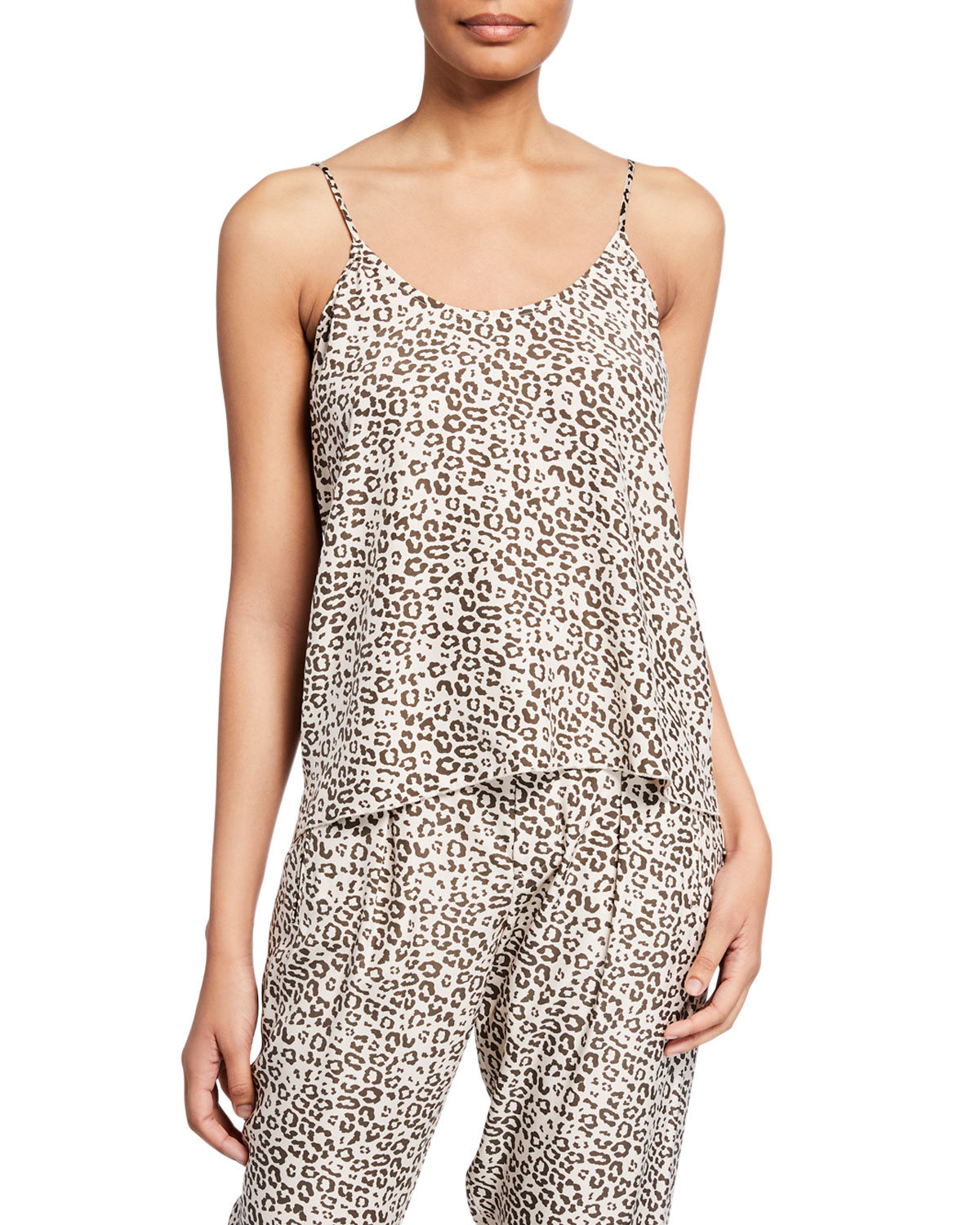 Atm Anthony Thomas Melillo Tops LUNAR LEOPARD-PRINT SILK CAMISOLE