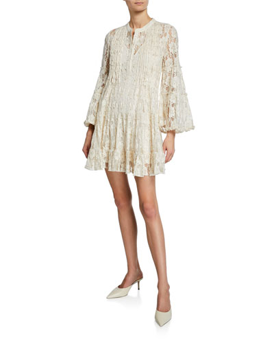 3629911ababfe Emelya Floral Lace Bell-Sleeve Mini Dress Quick Look. Alexis