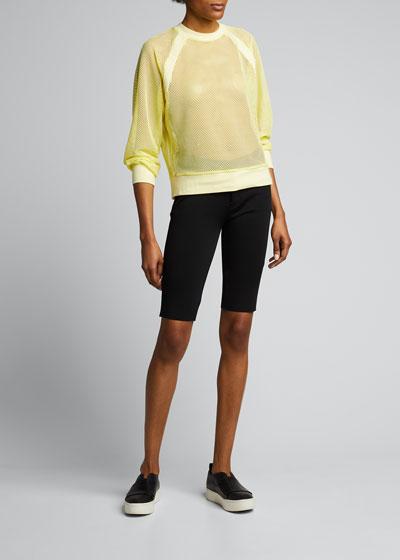 Irie Cropped Mesh Sweatshirt