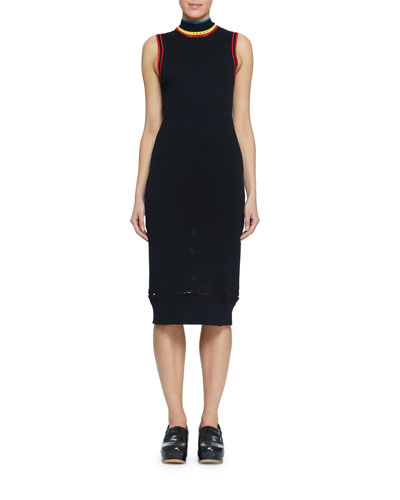 Turtleneck Sleeveless Body-Con Dress