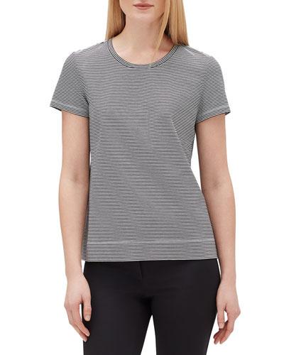 Modern Striped Short-Sleeve Jersey Cotton Tee
