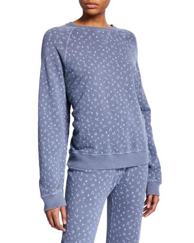 The Slouch Printed Raglan Sweatshirt
