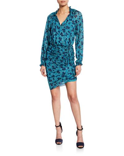 Becky Floral-Print Silk Shirtdress