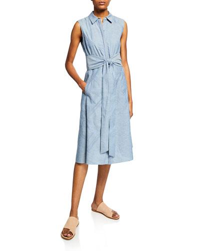 Malise Sleeveless Dress with Tie-Waist