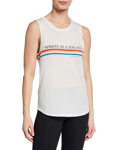 Rainbow SG Logo-Graphic Muscle Tank