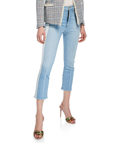 Carly Kick Flare Jeans with Tuxedo Stripes