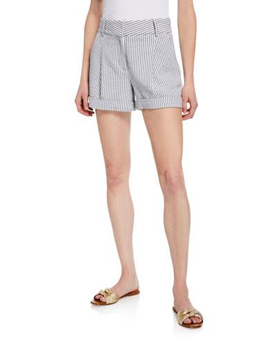 Carito Striped Cuffed Shorts
