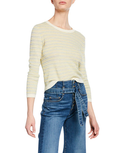 Boise Striped Bracelet-Sleeve Sweater