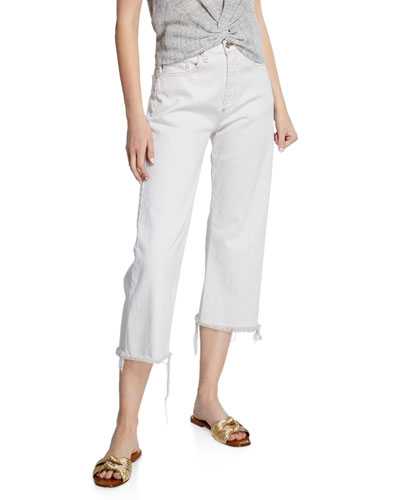 Rockwell High-Rise Straight Cropped Jeans