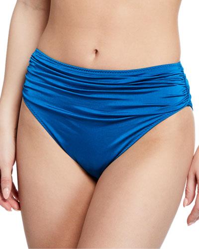 Ballet Draped High-Waist Bikini Bottom