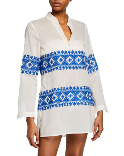 Stephanie Embroidered Coverup Tunic