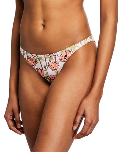 Printed Low-Rise Hipster Bikini Bottom