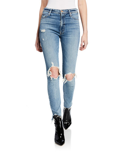 The Stunner Ankle Step Fray Skinny Jeans