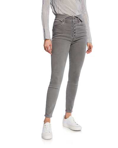 The Swooner Exposed Snap Ankle Skinny Jeans