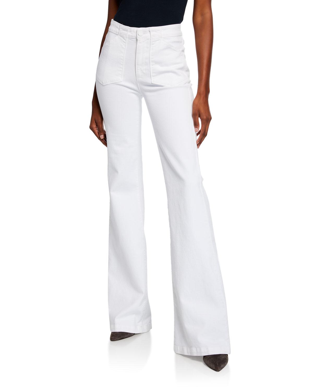 Paige Jeans GENEVIEVE FLARE-LEG JEANS W/ UTILITY POCKETS