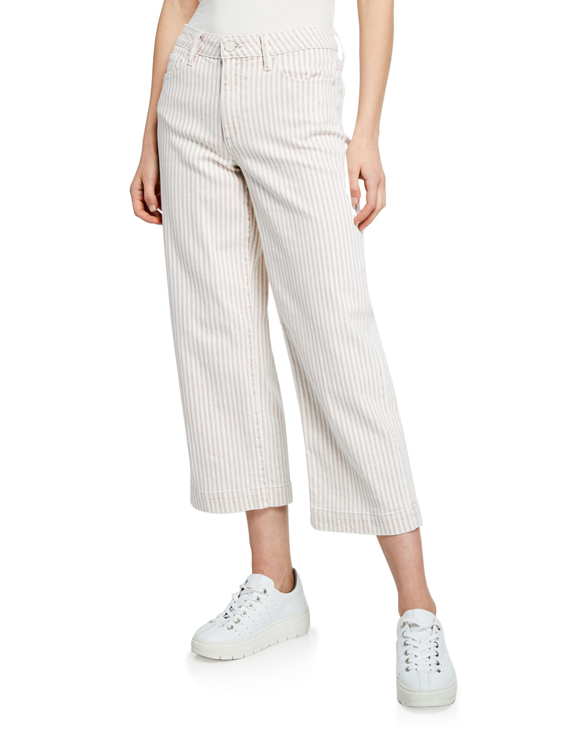Paige Pants NELLIE STRIPED CROPPED CULOTTES