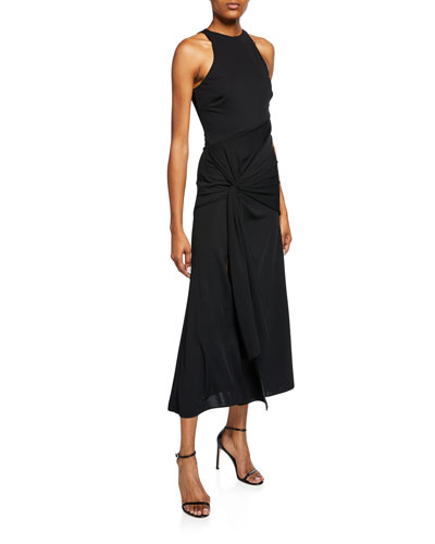 Alex Knotted Front Cocktail Dress