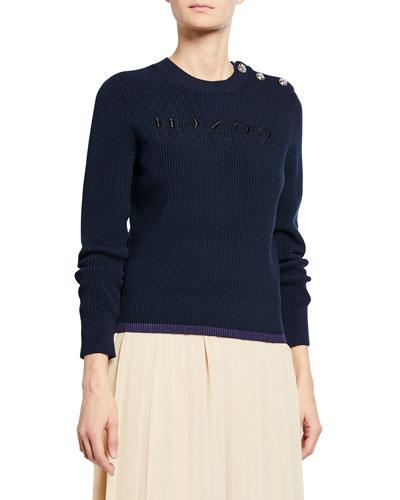 Reversed-Logo Pullover Sweater