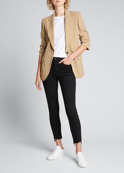 Stunner Zip Ankle Step Fray Skinny Jeans