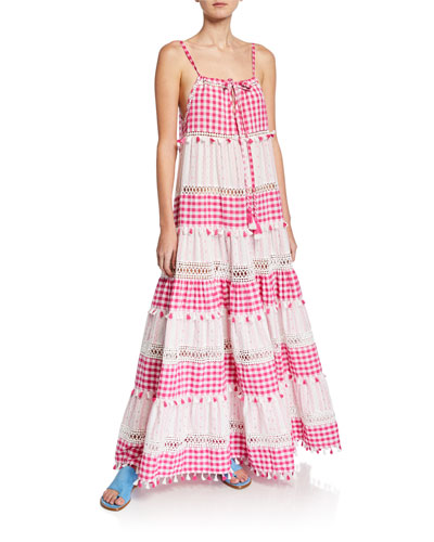 Patricia Tiered Check Sleeveless Dress