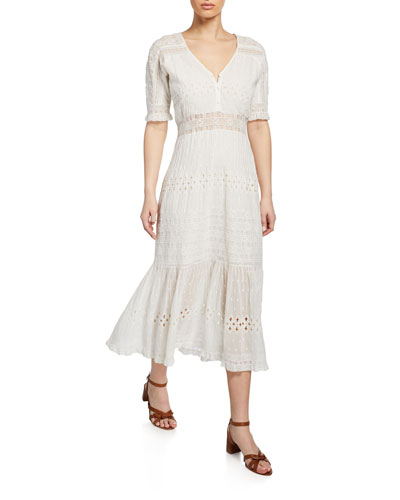 Diamond Embroidered Midi Dress