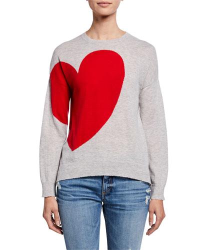 Heart & Star Crewneck Wool Sweater
