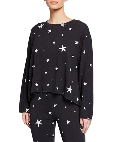 Cutoff Star Cropped Sweatshirt