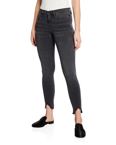 Le Skinny De Jeanne Mid-Rise Jeans w/ Triangle Hem