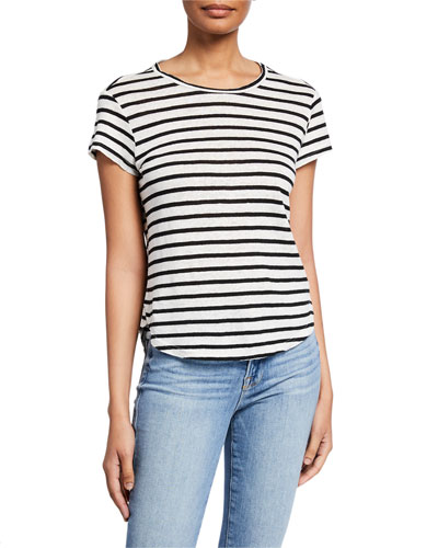 Striped Linen Short-Sleeve Tee