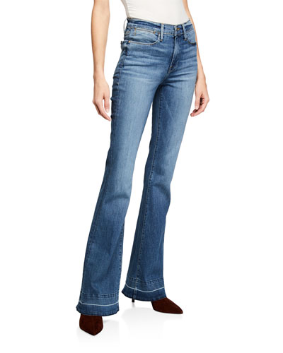 Le High Flare Wide-Leg Jeans w/ Released Hem