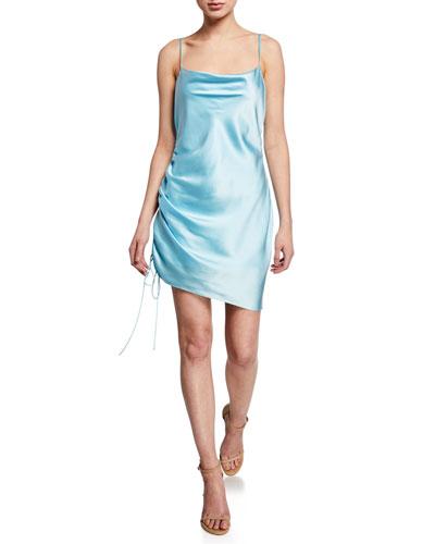 Astrid Satin Cocktail Dress