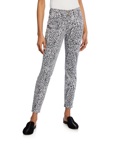 Le High Skinny Printed Jeans