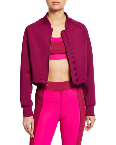 Alyx Cropped Zip-Up Bomber Jacket