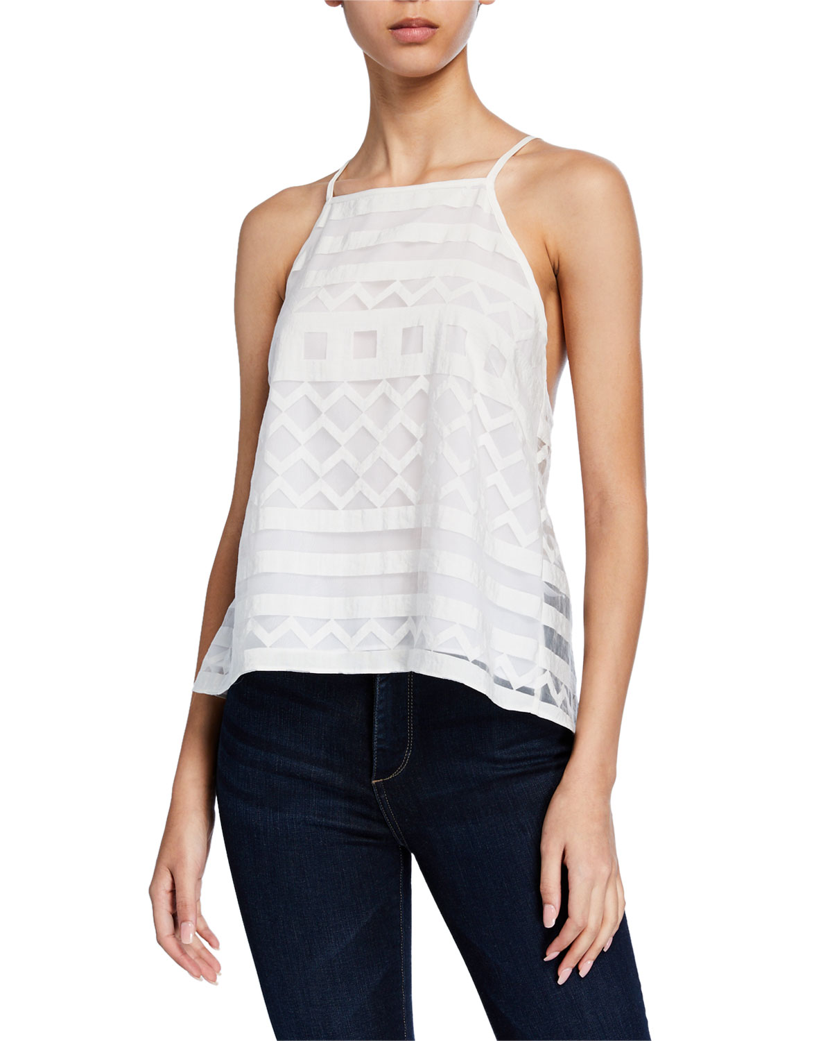 Milly Tops HIGH-LOW TRAPEZE CAMISOLE