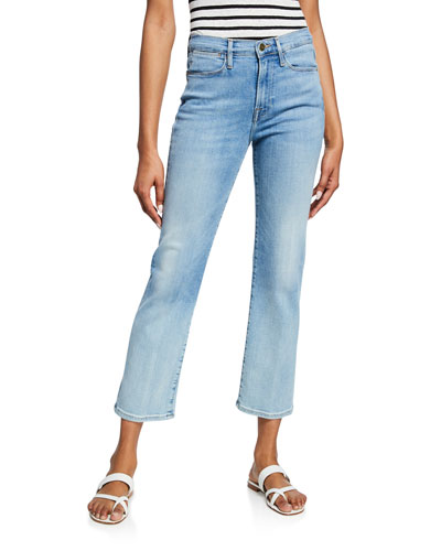 Le High Straight Cropped Stretch Jeans