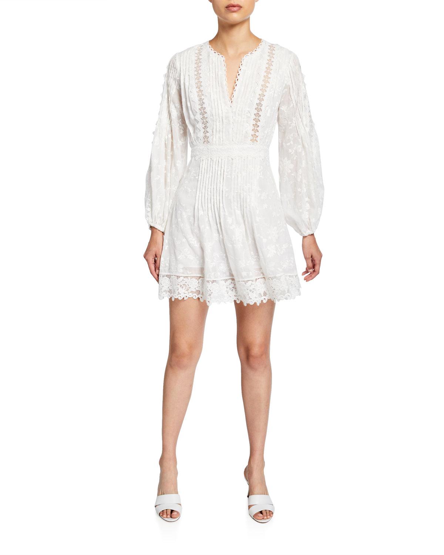 Alexis Dresses ARTEMIS SILK-COTTON LACE SHORT DRESS