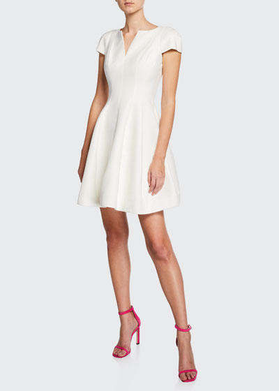 Maggie Short Fit-&-Flare Dress
