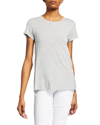 Scoop-Neck Short-Sleeve Swing Tee