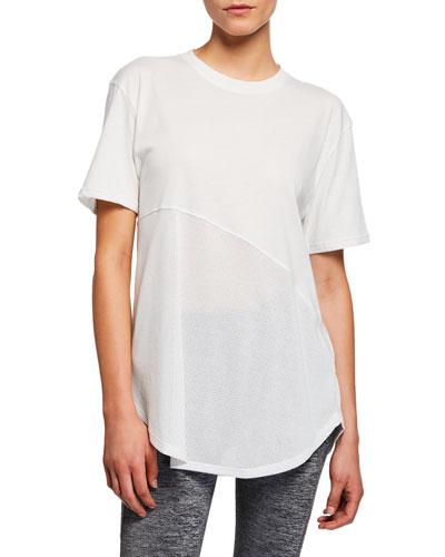 Lighter Longer Mesh Crewneck Short-Sleeve T-Shirt, White