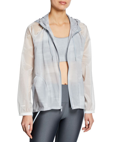 Woven Full-Zip Printed Active Jacket