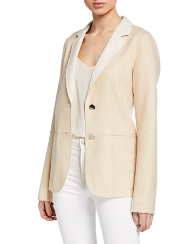 Terri Double-Face Two-Button Jacket