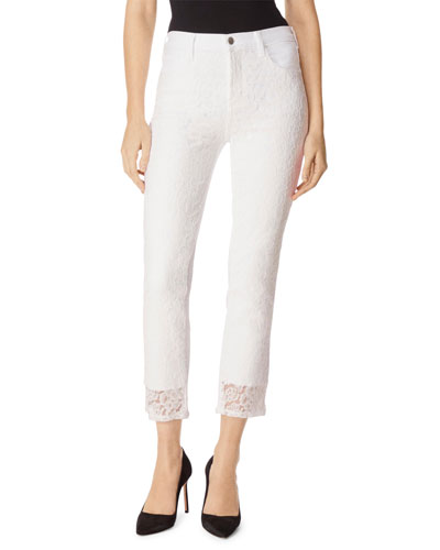 Ruby Front Lace Cropped Pants