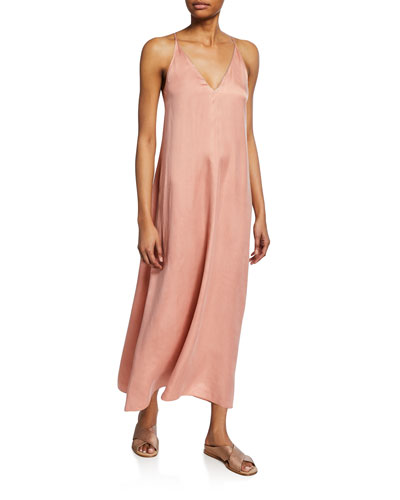 Chic Satin V-Neck Slip Dress